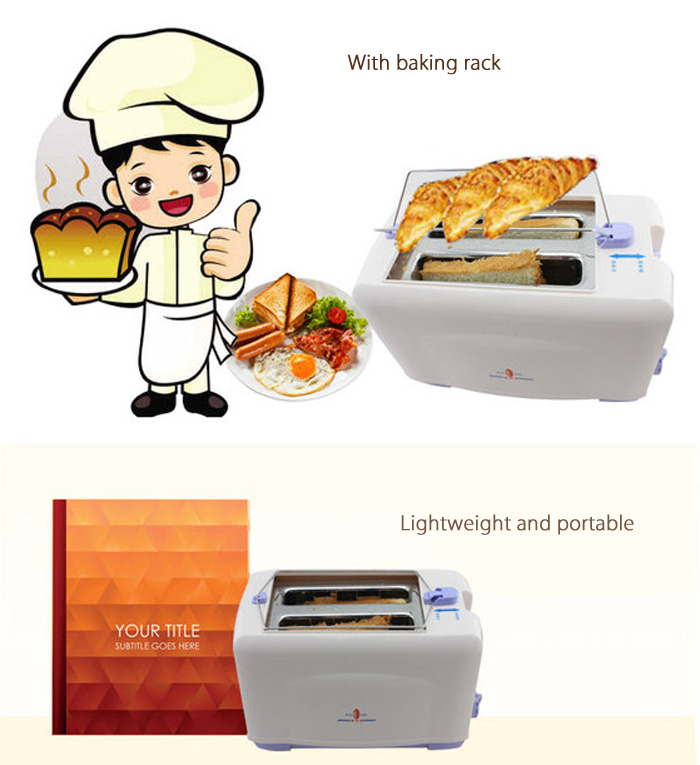 Multifunctional Portable Bread Maker with Baking Rack