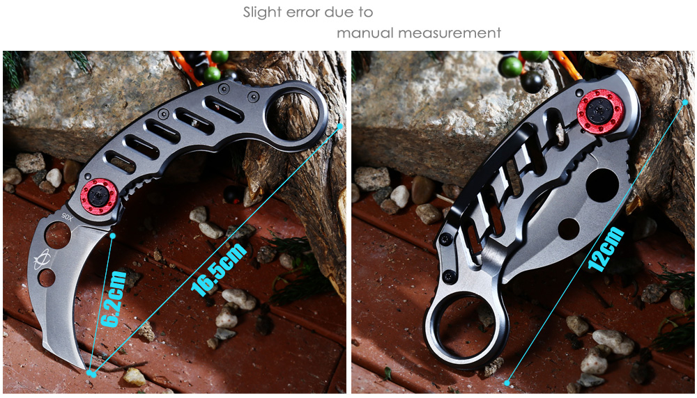 Portable Frame Lock Folding Claw Knife with 3Cr13Mov Stainless Steel Blade