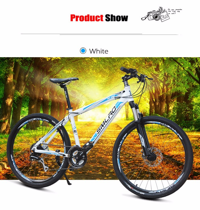 SMLRO MX650 EF65 - 9 26 inch 27 Speed Mountain Bike Double Disc Brakes Aluminum Alloy Frame Cycling Bicycle