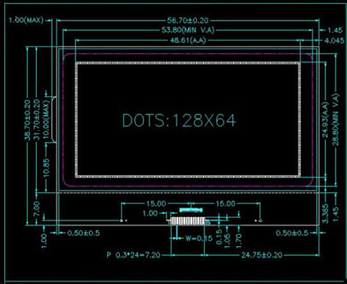 12864B11 5 - 100mW LCD Module with Backlight for DIY Project