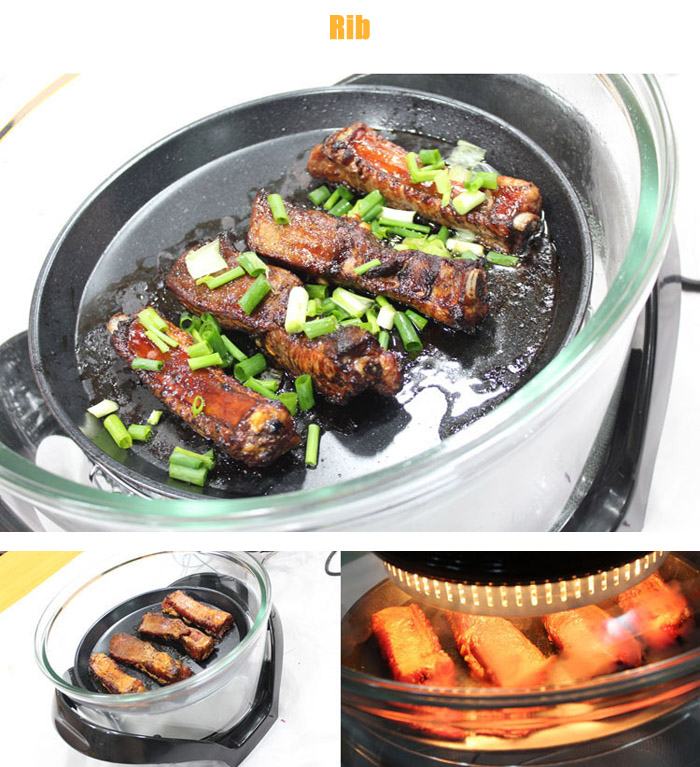 12L Intelligent Electric Air Fryer for Frying Roasting Baking