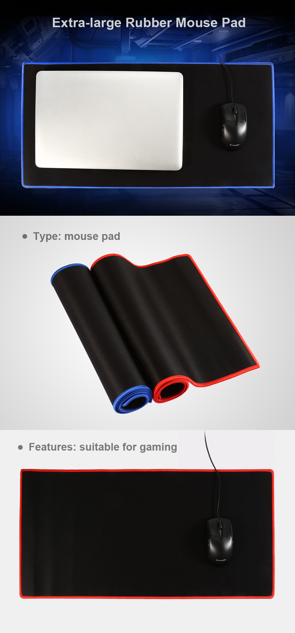 Extra-large Mouse Pad Skid Resisting Protecting Item