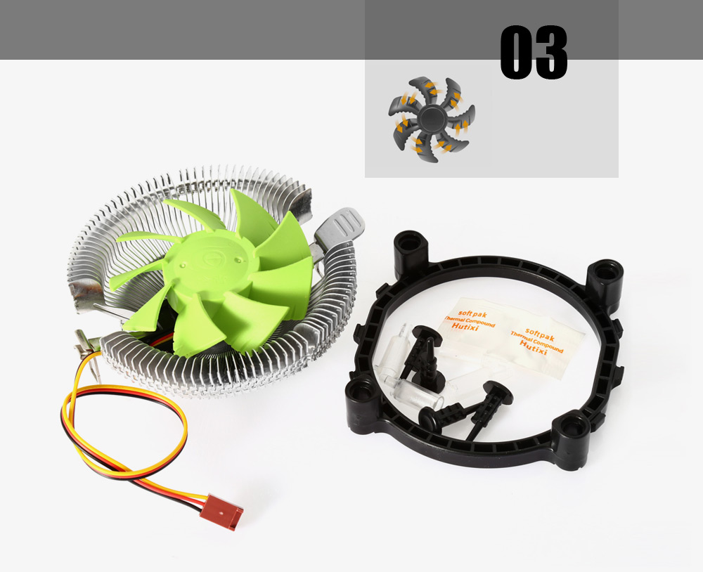 F3 CPU Cooling Fan Compatible with Intel / AMD