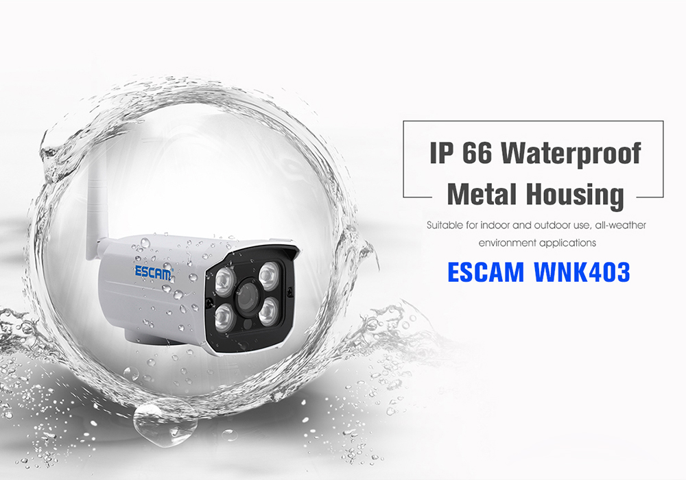 Escam WNK403 Wireless 1080P 4 / 8 Channel NVR Kit with 4 IPC