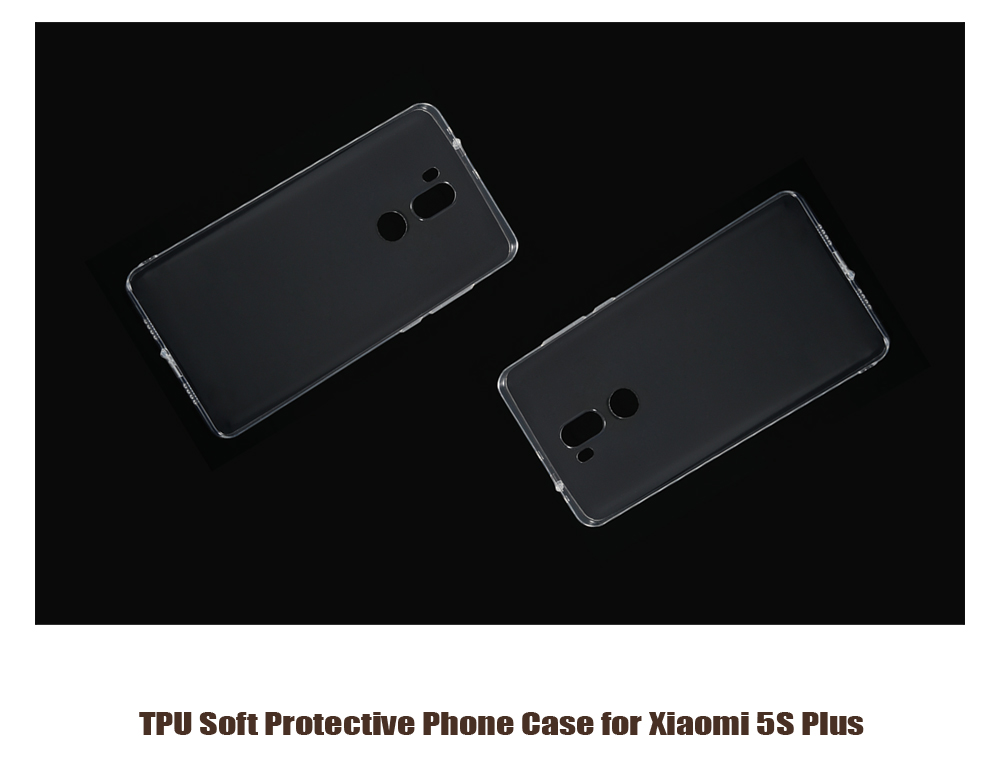 ASLING Transparent TPU Soft Case for Xiaomi 5S Plus Ultra Thin Phone Protector