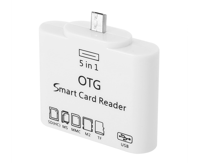 5 in 1 Creative Portable Micro USB Host OTG SD M2 TF Card Reader Connection Set for Samsung Galaxy S2 Note Sony Toshiba