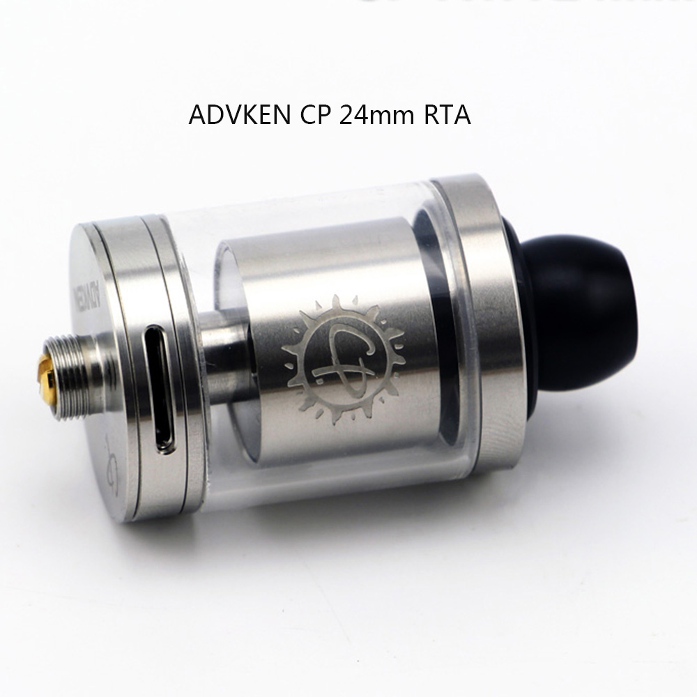 Original ADVKEN CP RTA with Bottom Adjustable Airflow / 2.5ml Capacity / Top Filling / Two Posts / 24mm Diameter for E Cigarette