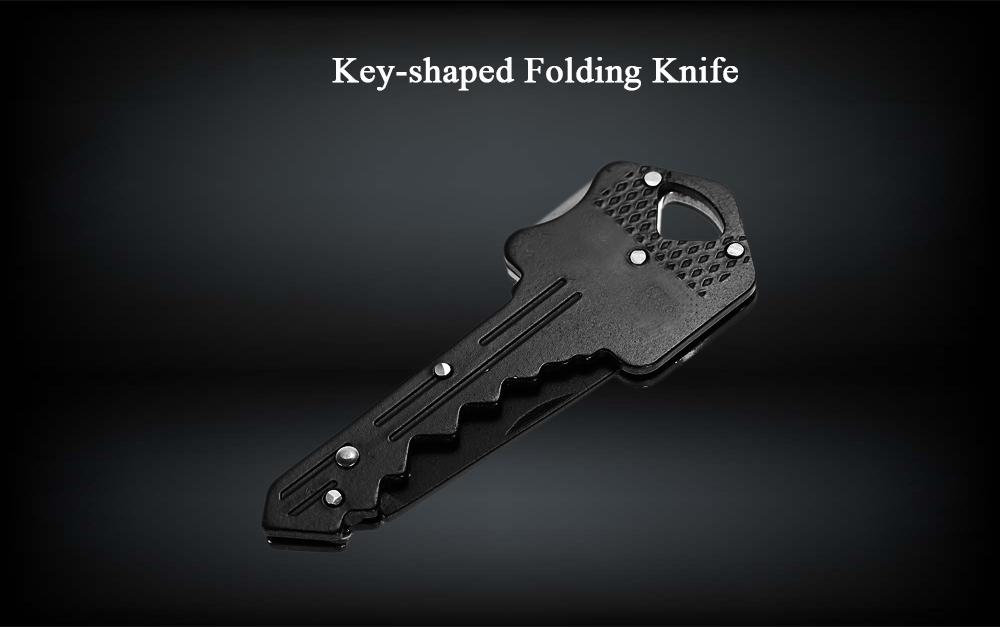 Mini Key-shaped Folding Knife Stainless Steel EDC Tool