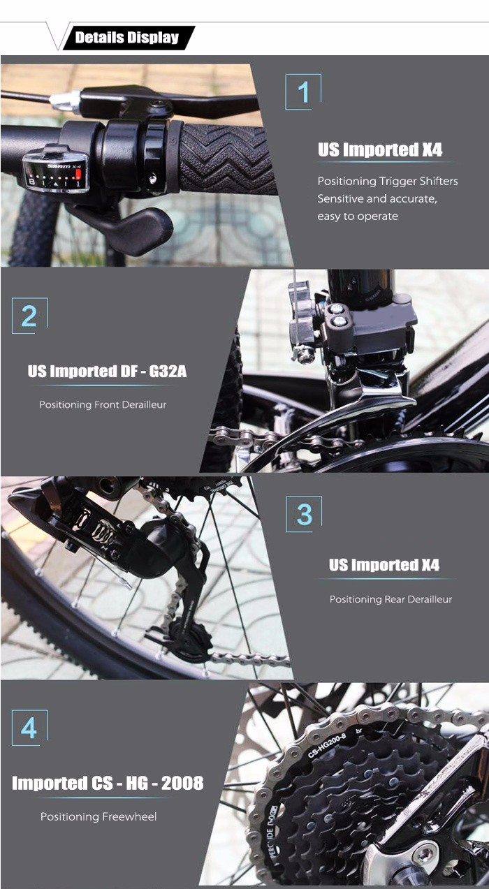 SMLRO C6 26 inch Mountain Bike 24 Speed Spoked Wheel Aluminum Alloy Frame Cycling Bicycle