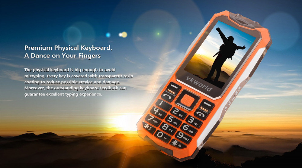 Vkworld V3S 2.4 inch Quad Band Unlocked Phone SPRD6531 Camera Bluetooth FM