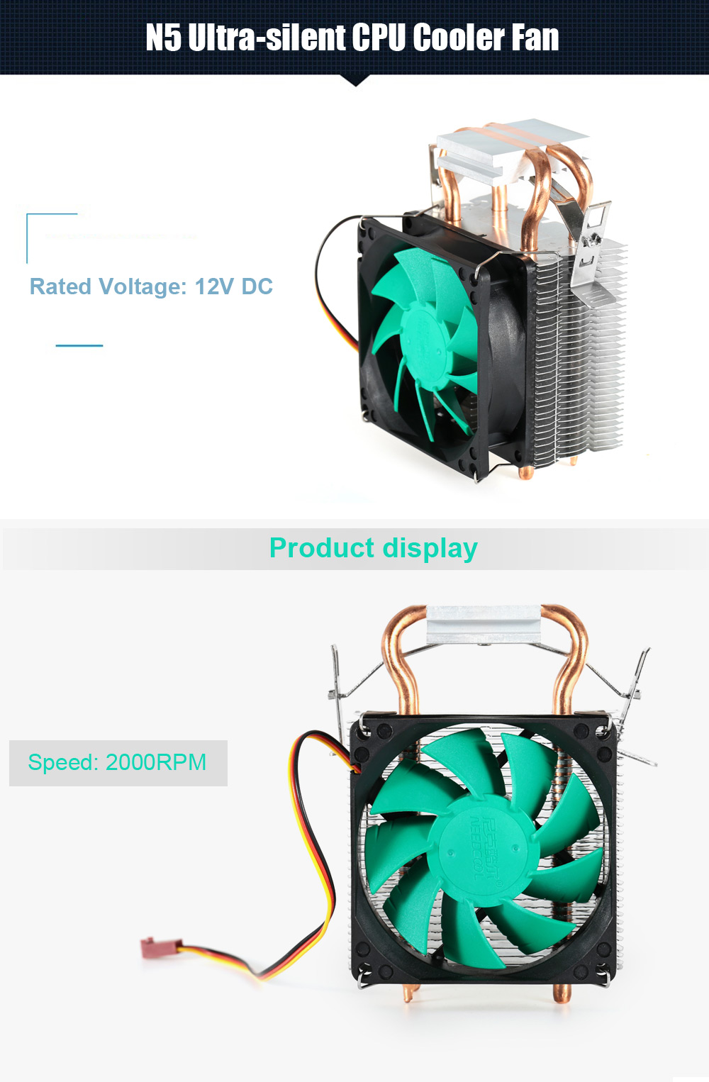 NEEDCOOL N5 CPU Cooling Fan Compatible with Intel / AMD