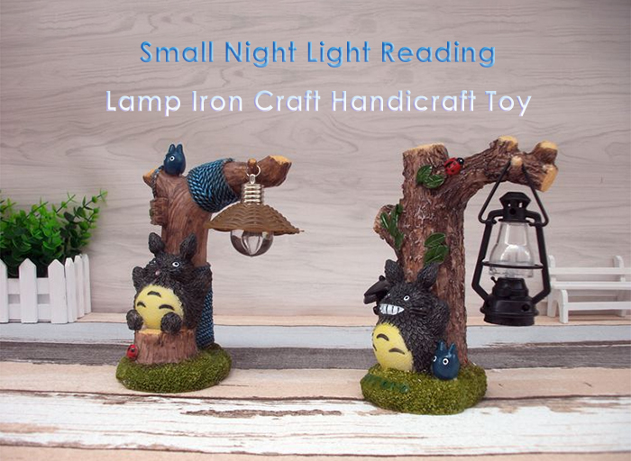 Micro Landscape Toy with Night Light Home Decoration Accessory - 1pc