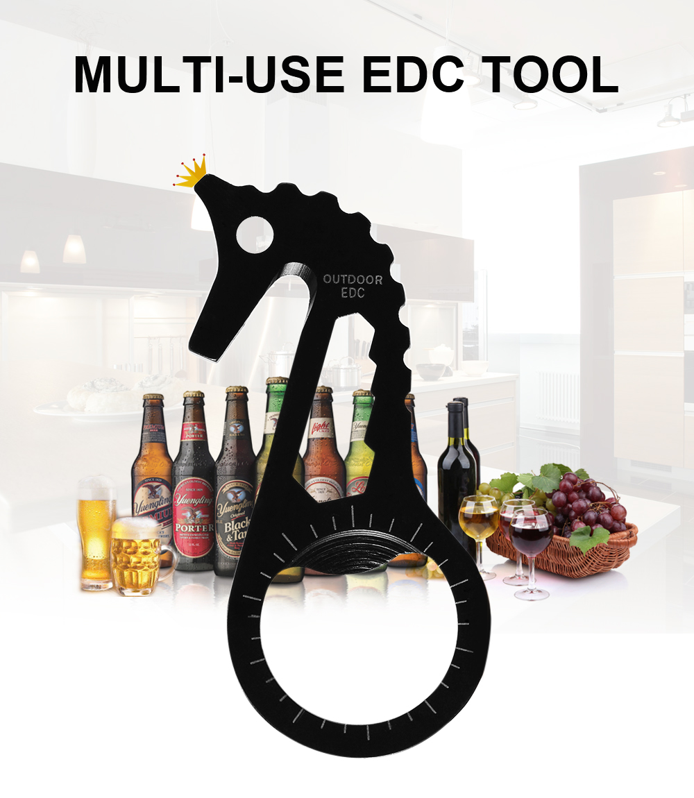 Stainless Steel Multi-use EDC Tool Hex Wrench / Bottle Opener / Rope Cutter