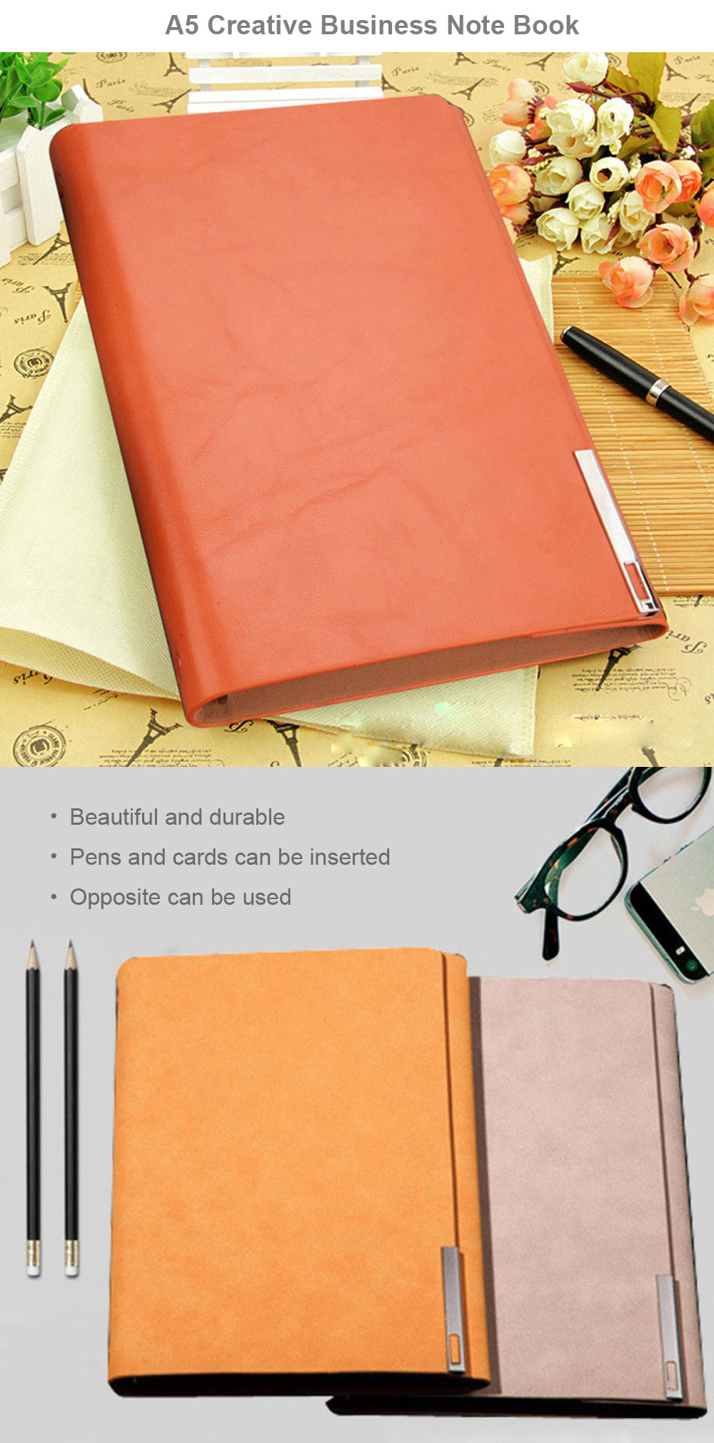 A5 Creative Business Note Book with PVC Design