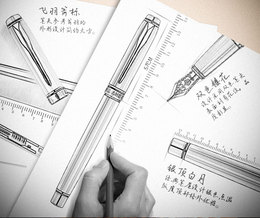 HERO 187 Exquisite Fountain Pen Writing Stationery