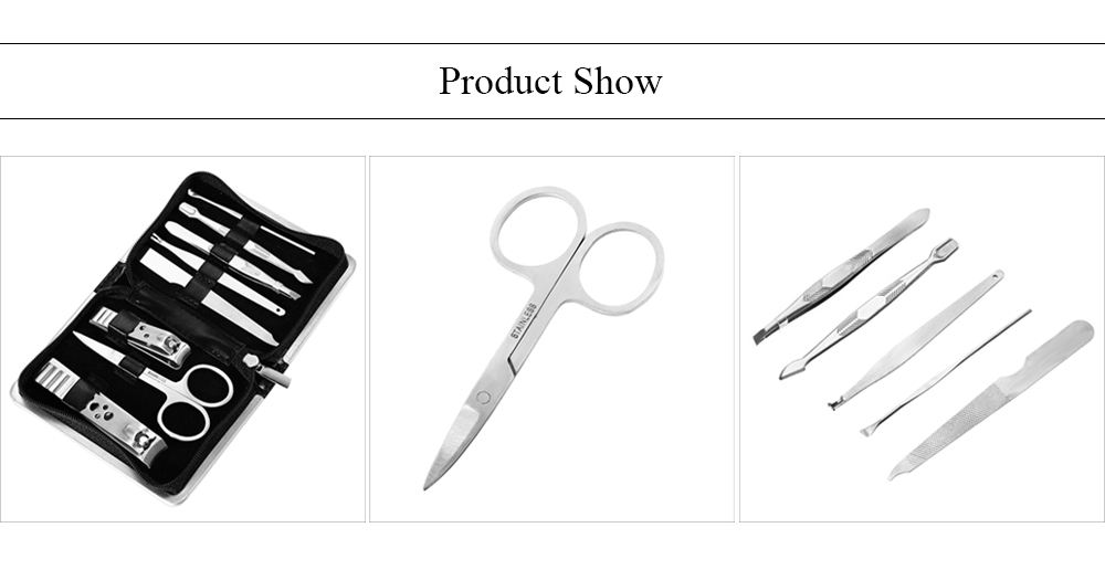 GS838 8 in 1 Manicure Set Pedicure Tool for Hand