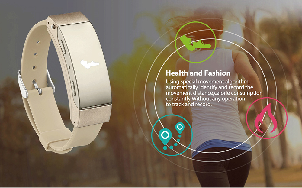 K2 Bluetooth 3.0 Smart Wristband with Bidirectional Anti-lost Remote Camera