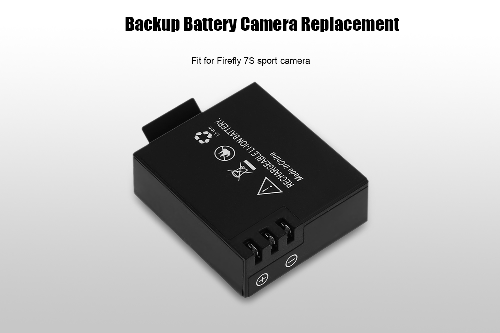 2PCS Replacement 1050mAh Backup Battery for Firefly 7S Action Camera