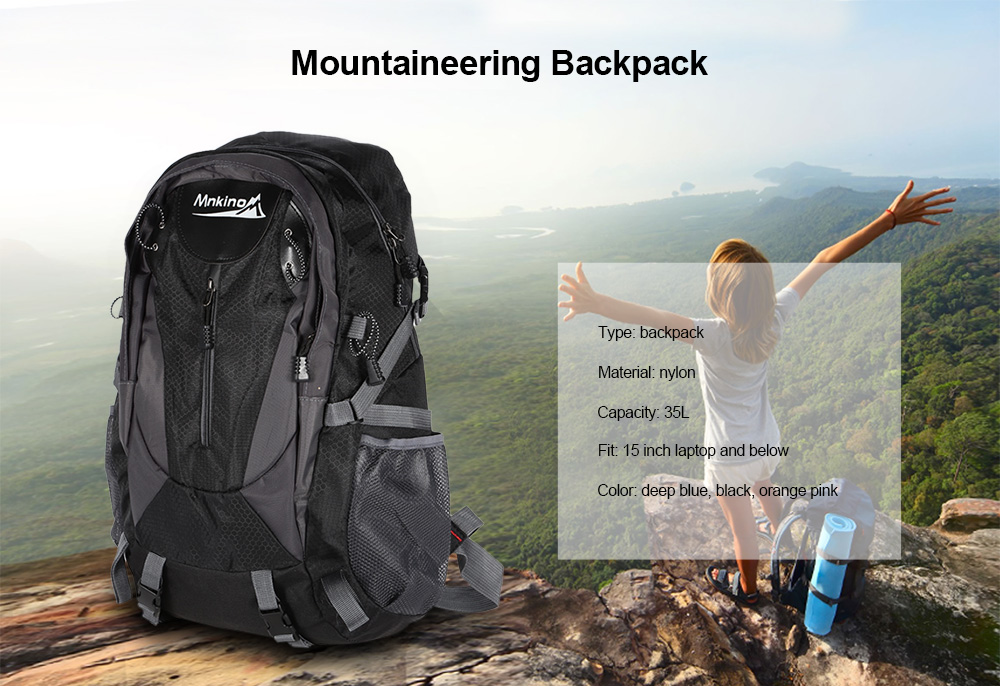 Water-resistant Nylon Anti-scratch Mountaineering Backpack Bag