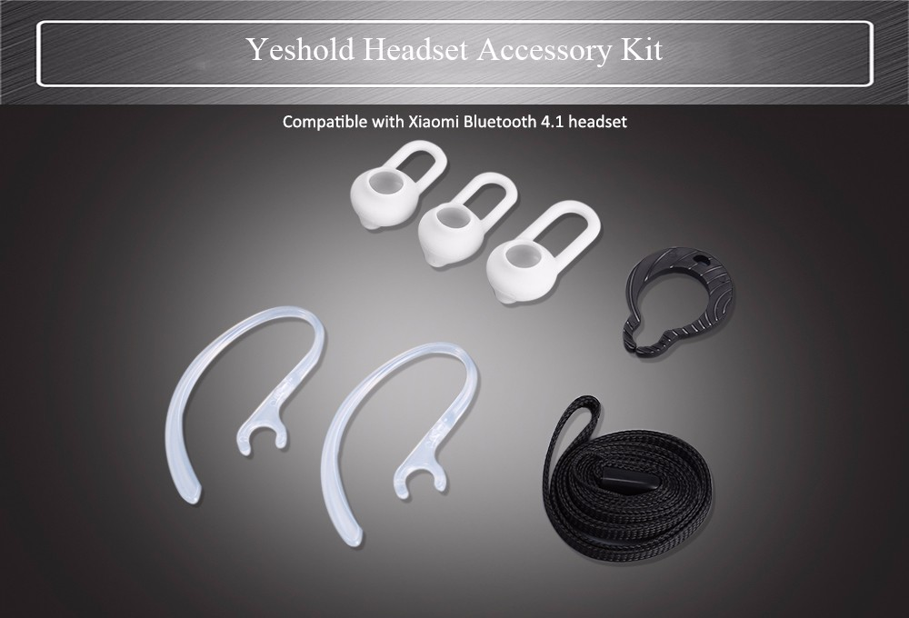 Yeshold Headset Accessory Kit Ear Cap / Ear-hook / Lanyard and Hang Buckle for Xiaomi Bluetooth 4.1 Earbuds