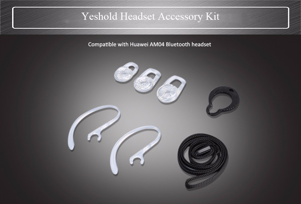 Yeshold Headset Accessory Kit Crystal Ear Cap / Ear-hook / Lanyard and Hang Buckle for Huawei AM04 Bluetooth Earbuds