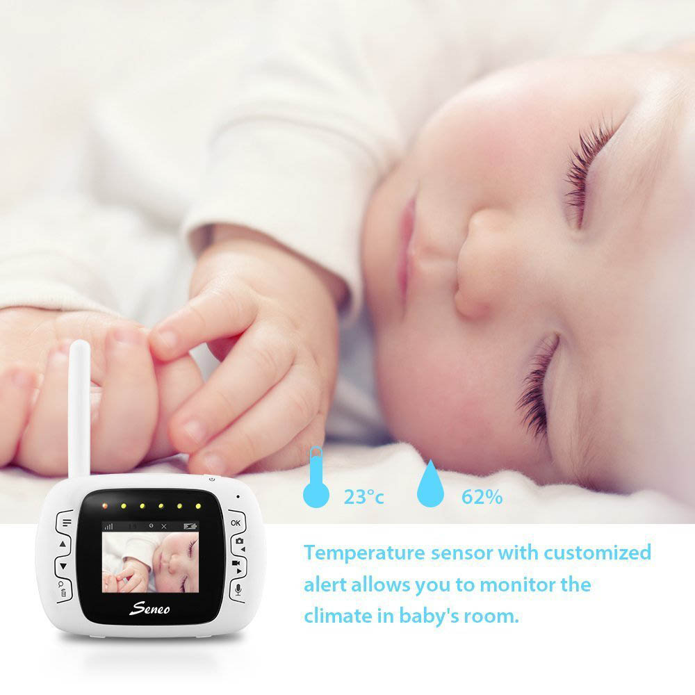 Seneo Wireless Baby Monitor with IP Camera Security System Night Vision Two-way Audio