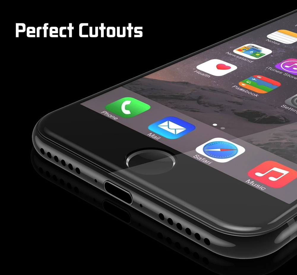 Hat - Prince Tempered Glass Screen Protective Film for iPhone 7 0.26mm 3D 9H Explosion-proof Full Cover Protector
