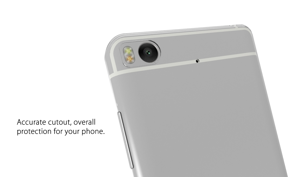 Luanke Transparent TPU Soft Case Protective Cover Phone Protector for Xiaomi 5S