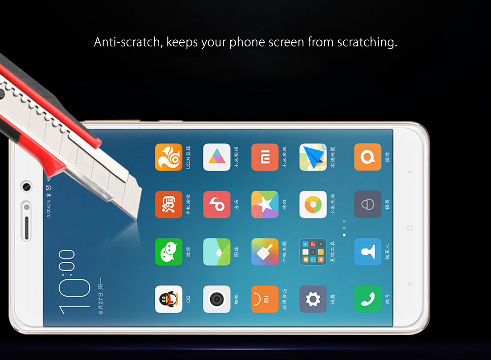Luanke Tempered Glass Screen Protective Film for Xiaomi 5S Plus Ultra-thin 0.26mm 2.5D 9H Explosion-proof Protector