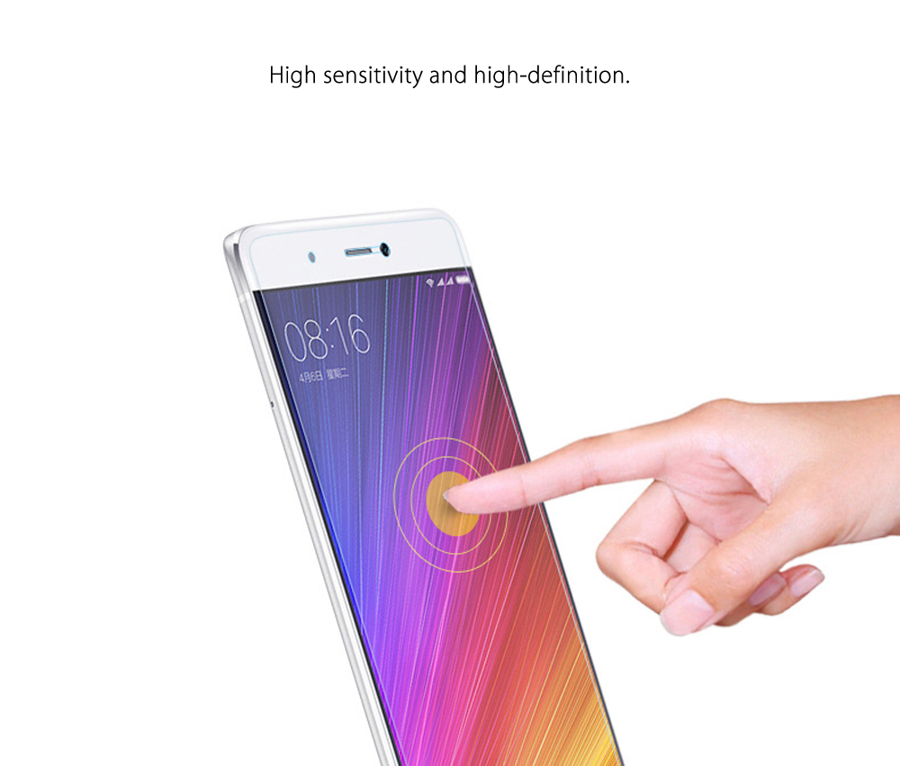 Luanke Tempered Glass Screen Protective Film for Xiaomi 5S Ultra-thin 0.26mm 2.5D 9H Explosion-proof Protector