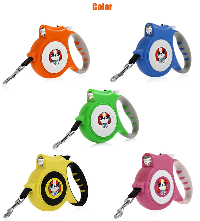 Retractable Running 5m Traction Belt Pet Dog Hauling Cable Leads