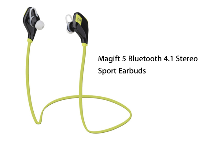 Magift 5 Wireless Bluetooth V4.1 In-ear Sport Earbuds Song Switch Volume Control Support Hands-free Calls