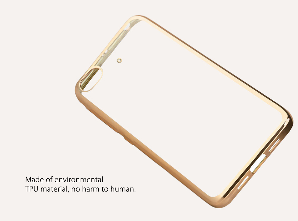 Luanke TPU Soft Protective Phone Case for Xiaomi 5S Ultrathin Transparent Shell Electroplated Edge