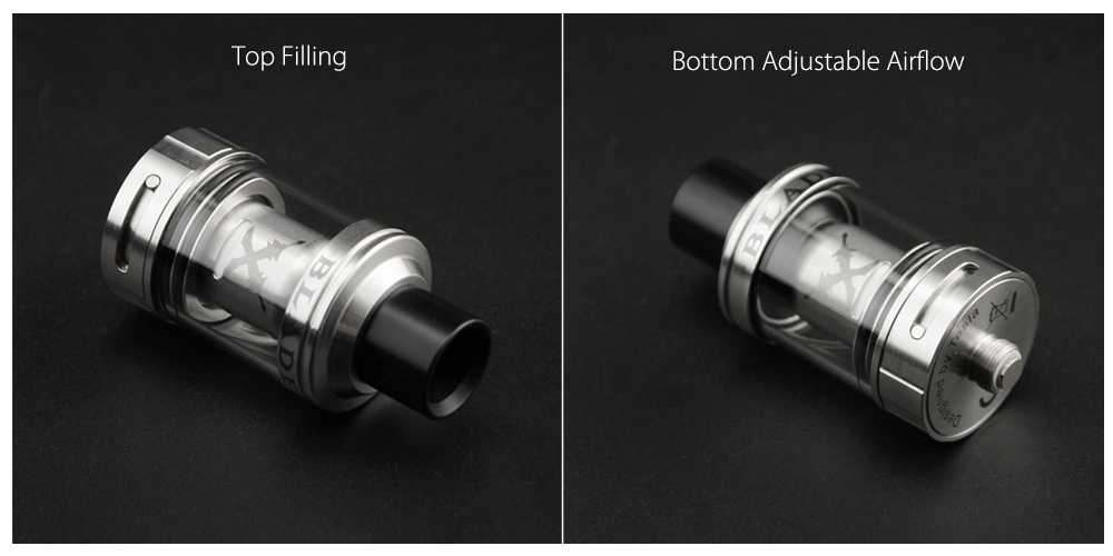 Original TESLA TESLACIGS Blade 24mm Clearomizer with 0.25 ohm / 0.5 ohm / Top Filling for E Cigarette