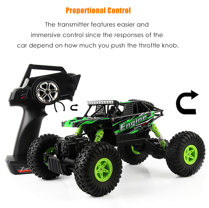 WLtoys 18428 - B 1:18 4WD RC Climbing Car 2.4GHz 4CH 9km/h Proportional Controlled All Terrain Vehicle