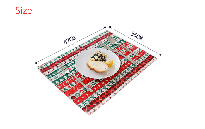Senhot Christmas Dinner Napkin Table Cloth for Party Banquet