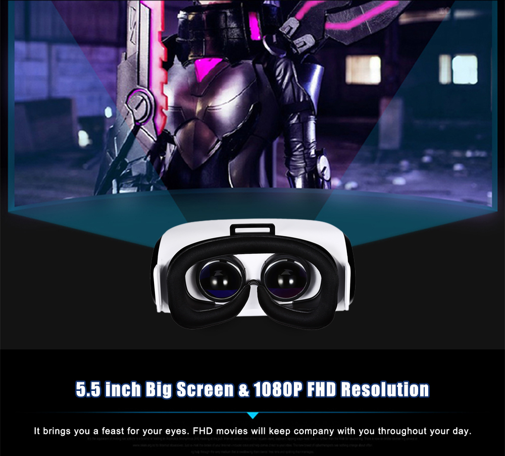 V6 5.5 inch 1080P All-in-one VR 3D Headset Support Bluetooth WiFi