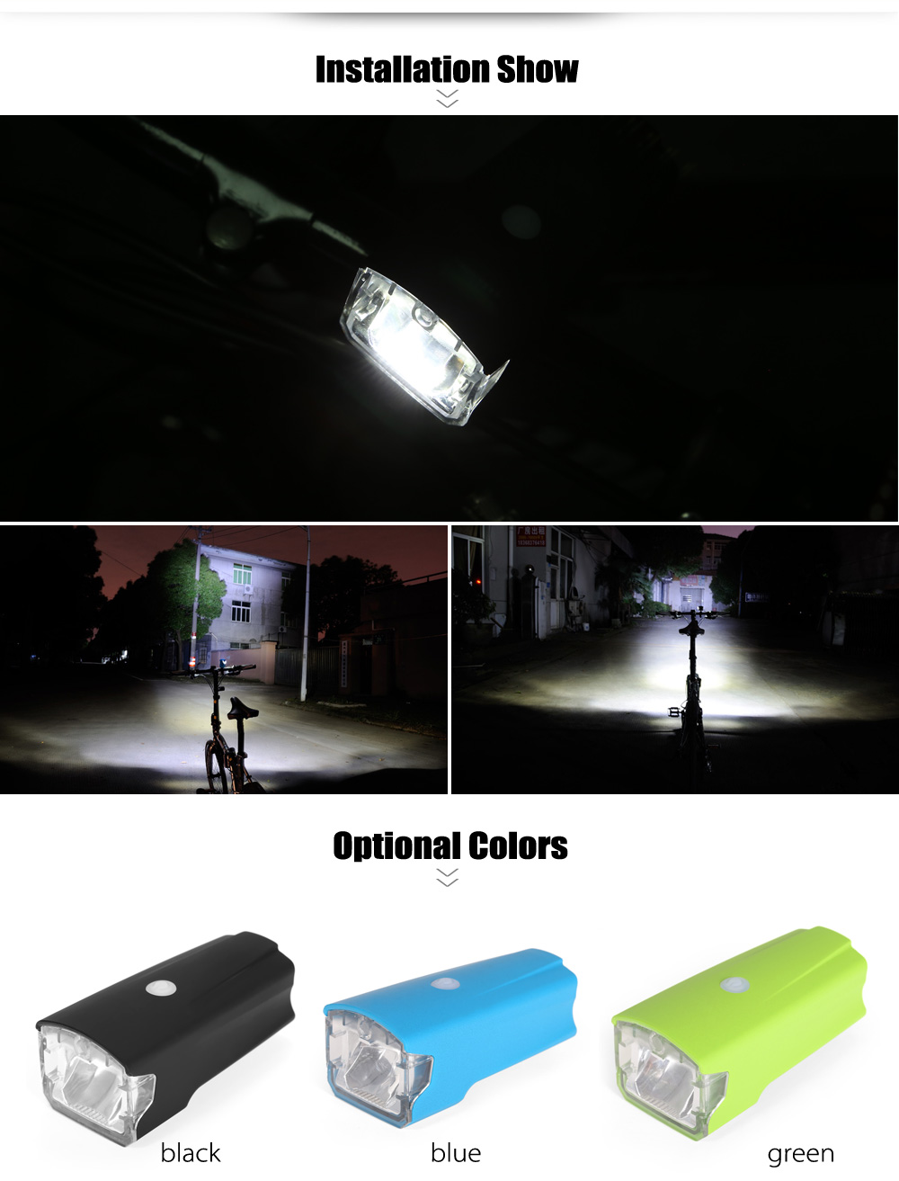 LEADBIKE A124 5W 4 Mode LED Bike Front Light USB Cycling Safety Flashlight