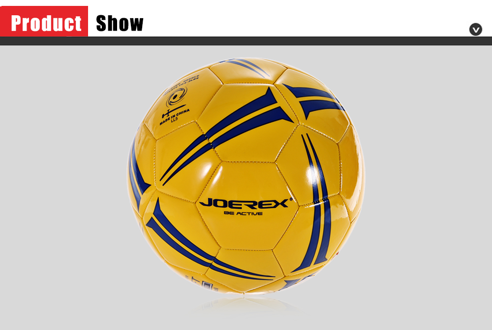 JOEREX JBW505 No.5 PVC Machine Stitched Soccer Ball Football