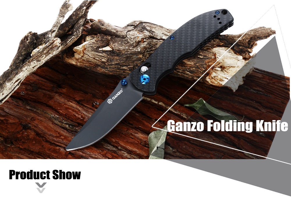 Ganzo G7503 - CF Axis Lock Folding Knife with Carbon Fiber Handle