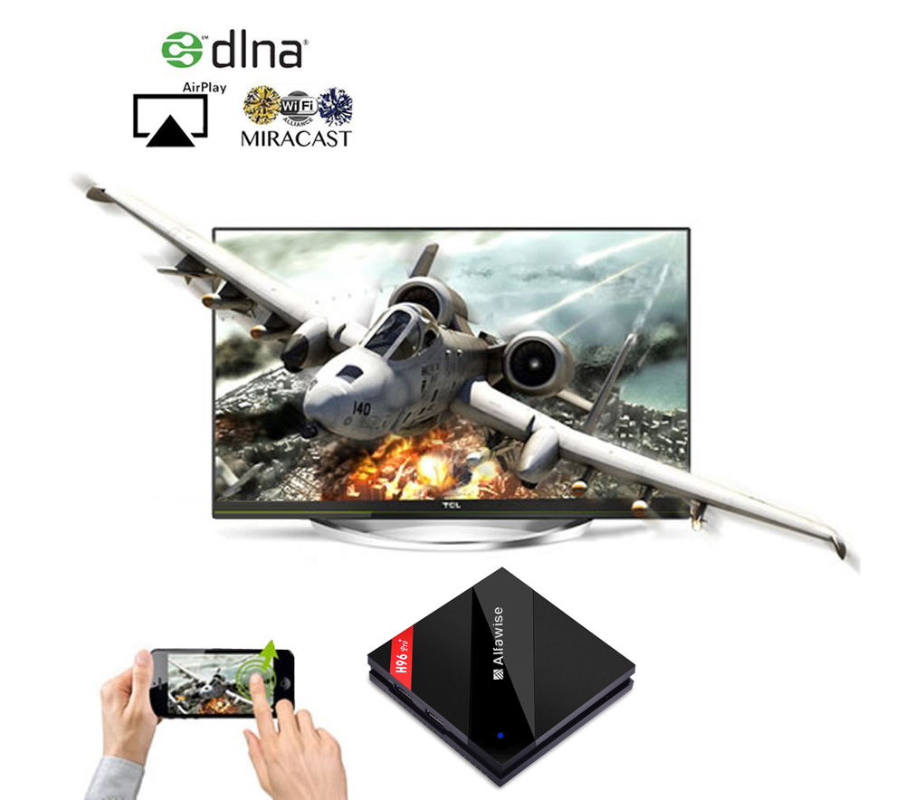 Alfawise H96 Pro+ TV Box Amlogic S912 Octa Core CPU Android 7.1 OS BT 4.1 2.4GHz + 5.0GHz WiFi Mini PC