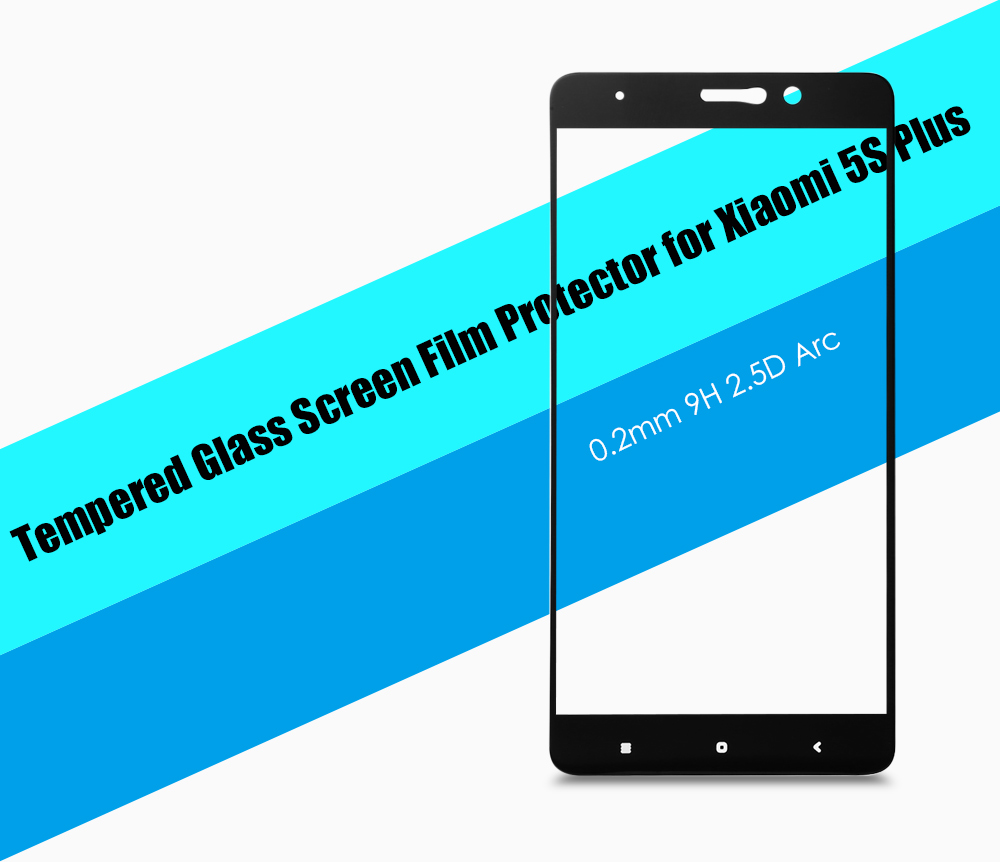 ASLING Tempered Glass Screen Protector for Xiaomi 5S Plus 0.2mm 9H 2.5D Full Cover Explosion-proof Ultrathin Protective Film