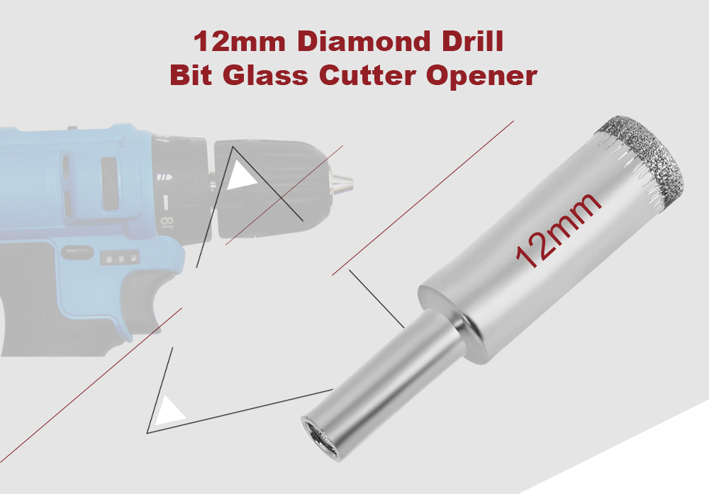 12mm Diamond Hole Saw Drill Bit Cutter for Ceramic Glass Marble Tile