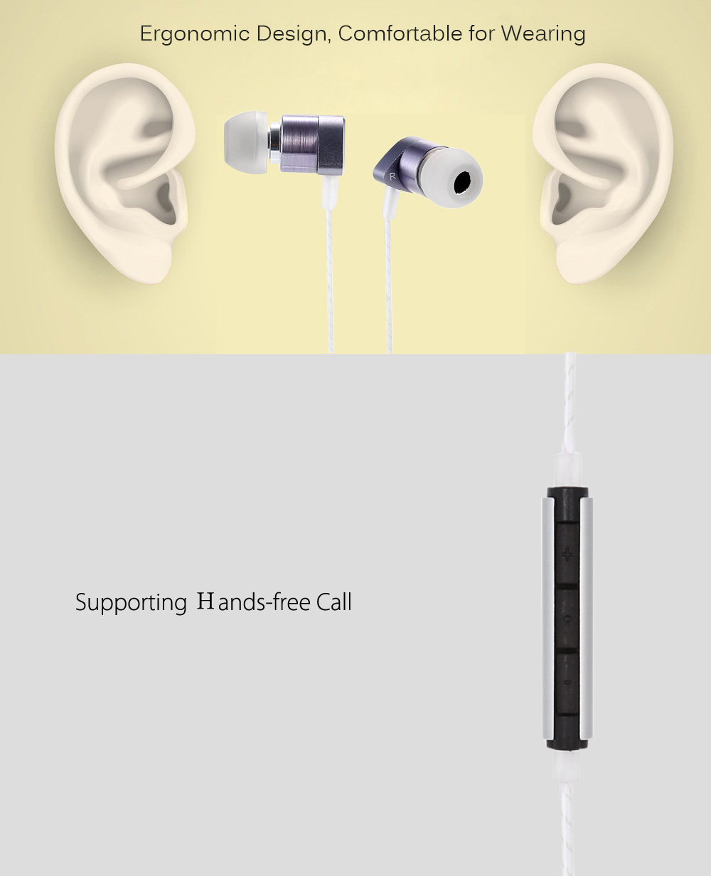 C630 HiFi Music In-ear Earphones with Mic Support Hands-free Calls