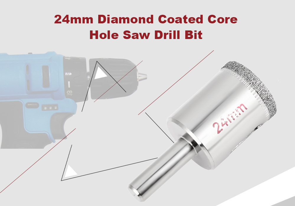 24mm Diamond Coated Drill Bit for Ceramic / Glass