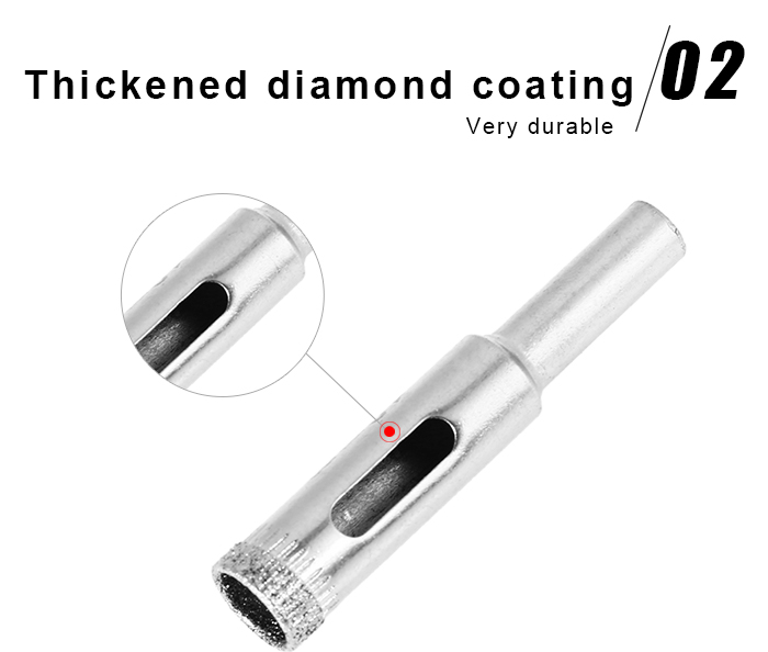 10mm Diamond Hole Saw Drill Bit Cutter for Ceramic Glass Marble Tile