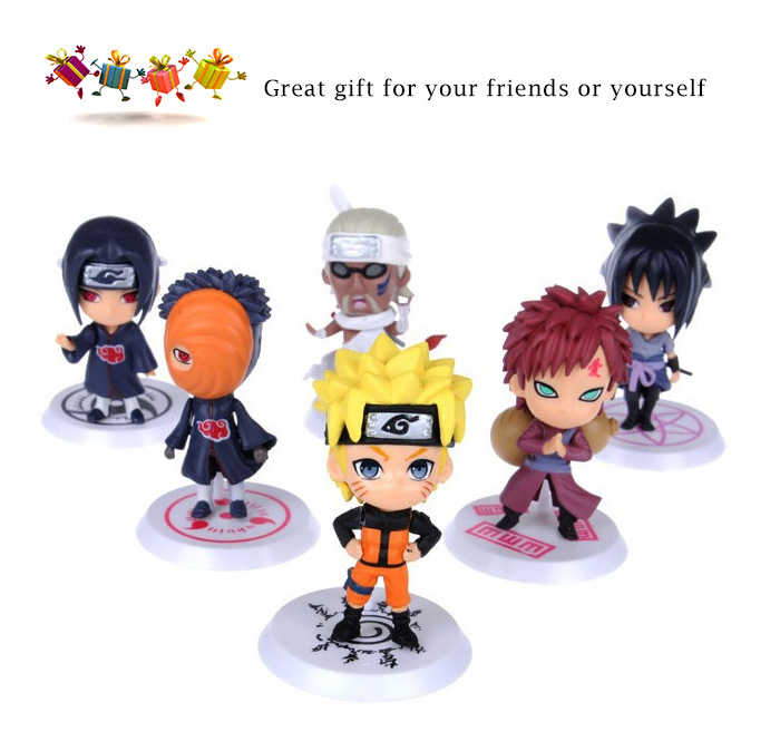 PVC + ABS Static Action Figure Animation Collectible Figurine - 6pcs / set