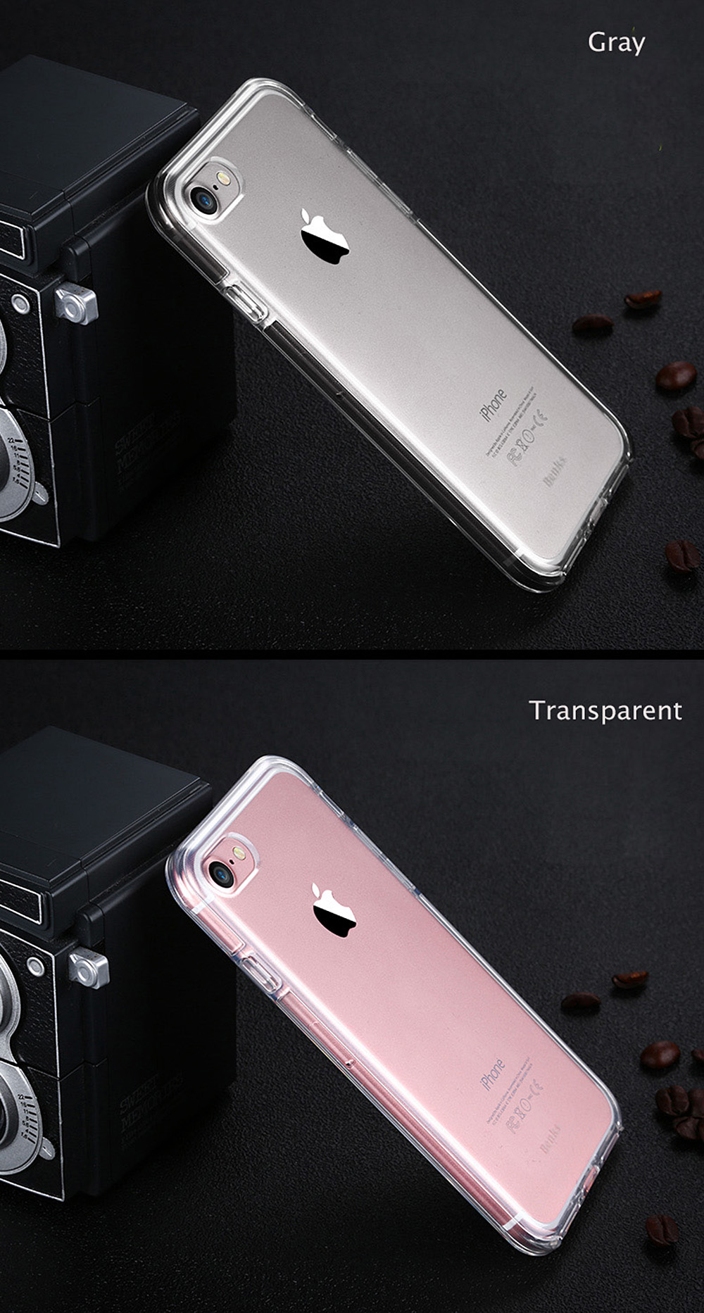 Benks TPU Transparent Phone Back Case Incoming Call Flash Protector for iPhone 7