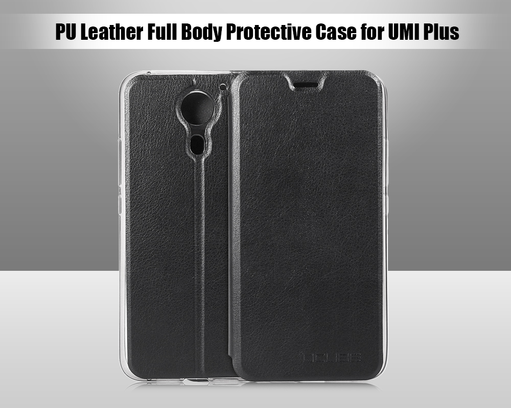 OCUBE PU Leather Full Body Phone Protective Case with Foldable Stand for UMI Plus