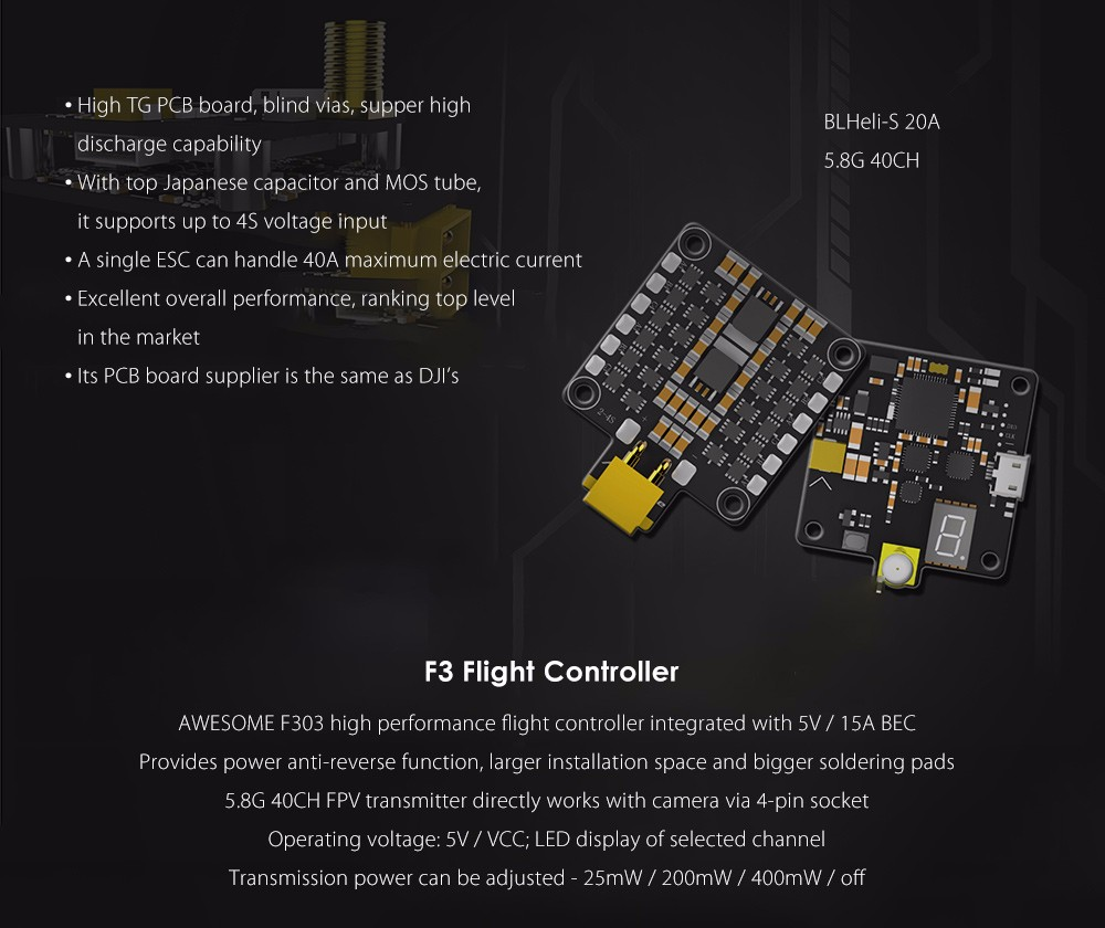 AWESOME youbi XV - 130 130mm RC FPV Racing Drone PNP 5.8G 600TVL F3 Flight Controller 4-in-1 BLHeli-S 20A ESC
